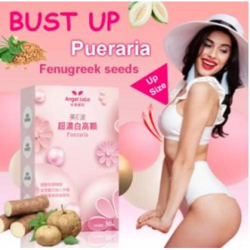 Angel Lala Breast Enhancement Pill with Pueraria – 30 Capsule – Fast Acting Bust Enhancer - Fuller Firmer Larger Breast
