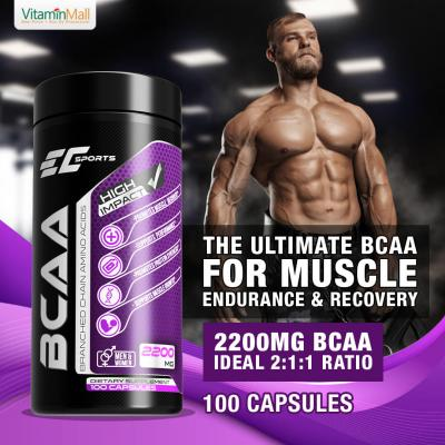 EC-Sports 100% BCAA 2:1:1 Branched Chain Amino Aci...