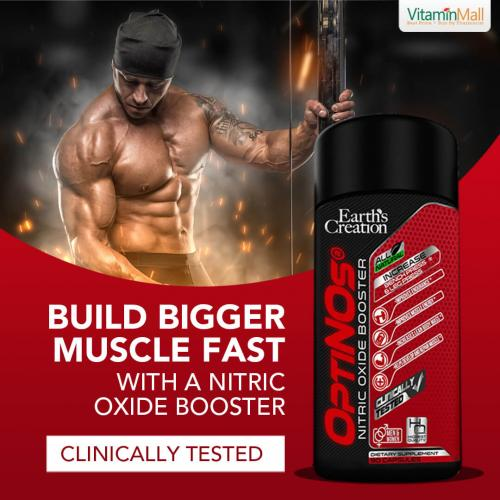OptiNOs Pre Workout Nitric Oxide Supplement with L Arginine & L Citrulline - 90 Capsules - Patented, Clinically Proven to Boost Muscle Growth, Muscle Pumps, Energy & Vascularity - Powerful Pre workout Nitric Oxide Booster & Muscle Builder
