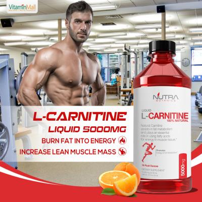 Nutra Botanics Liquid L-Carnitine 5000mg, Orange Flavored| 473ml