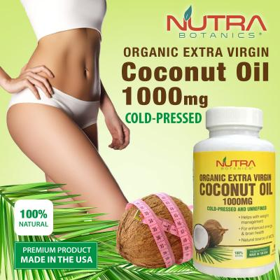Nutra Botanics Organic Extra Virgin Coconut Oil 1000mg 60's Softgels
