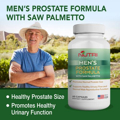 Nutri Botanics Men's Prostate Formula With Saw Palmetto | 60's Capsules | Expiry Date: Feb 2022