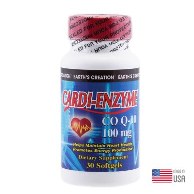 Earth's Creation CoQ10 100mg, 30 Softgels, Coenzyme Q10 Supplement For Heart Health and Cellular Energy Production